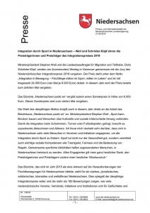 thumbnail of 105-Integration durch Sport in Niedersachsen – Integrationspreis 2019