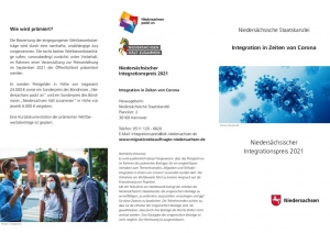 thumbnail of Nds. Integrationspreis 2021 Flyer