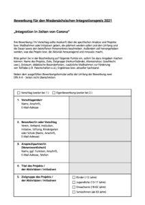 thumbnail of Nds. Integrationspreis 2021 Fragebogen
